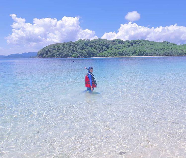 Snorkeling di Gili Nanggu Lombok, sumber ig @putrimaharanixo