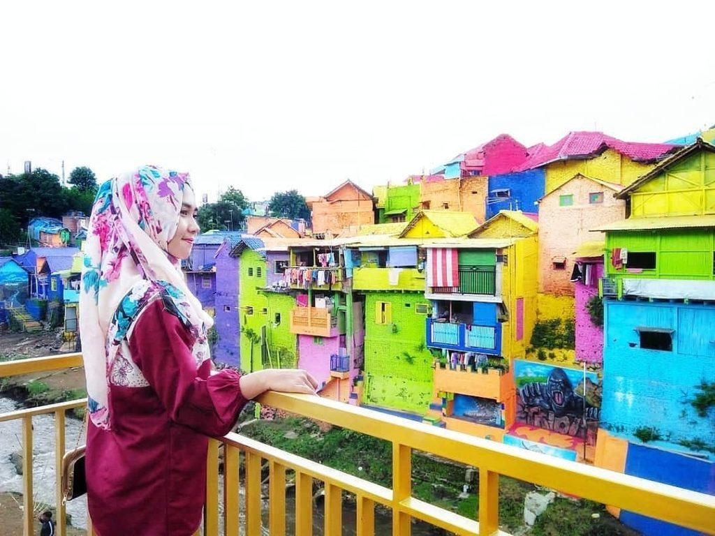 Kampung Warna-Warni Jodipan Malang, Sumber IG @intan_putrii.28