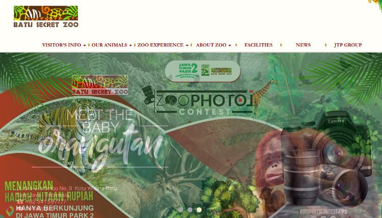 Website resmi dari Batu Secret Zoo