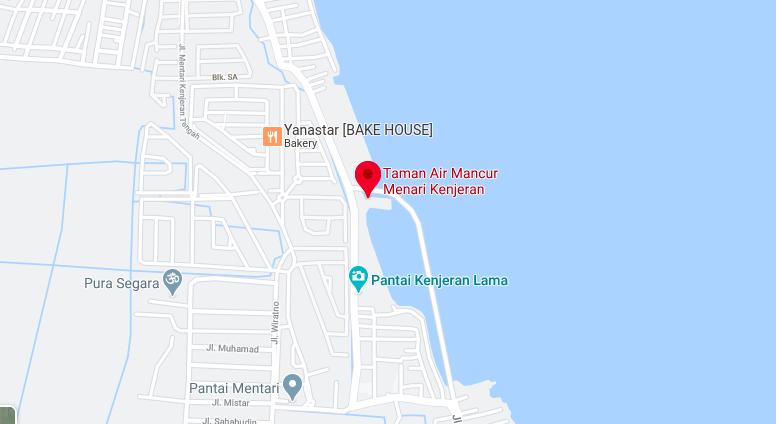 Taman air mancur menari di Kenjeras, google maps