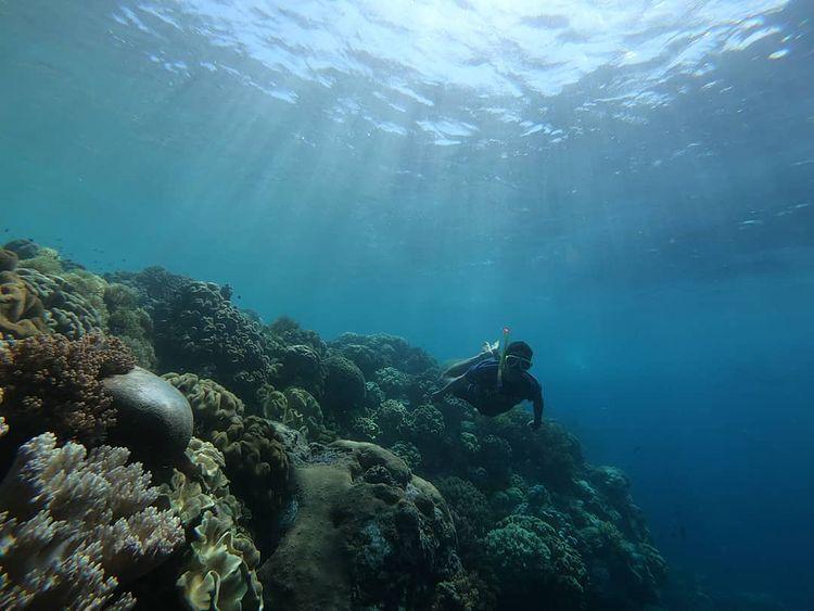 Foto keindahan laut sekitar pulau Hatta di Banda Neira Maluku, ig michaelmenason
